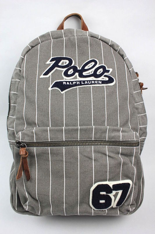 POLO RALPH LAUREN (ポロラルフローレン) / COTTON BASEBALL BACKPACK (バックパック) / grey×white