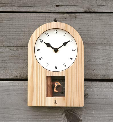 Kikori clock wood pendulum clock 5P13oct13_b