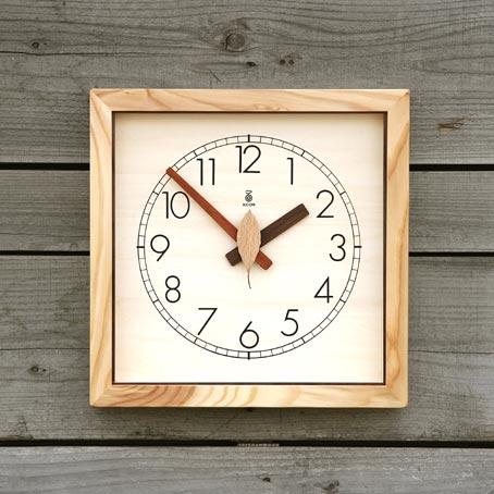 「キコリの時計」 木の電波時計 【森の電葉時計】