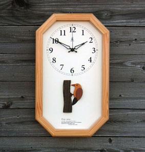 「キコリの時計」 木の電波時計 【ヤマゲラの電波時計】