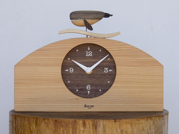 「キコリの時計」 木の振子時計 【くじらの時計】