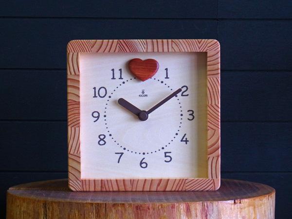 「キコリの時計」 木の振子時計 【ハートフル時計】