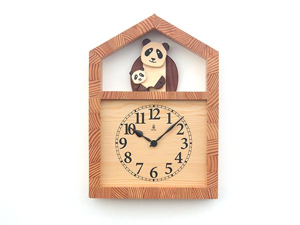品質一番の 【New!!】 「キコリの時計」【New!!】 木の振子時計【パンダの親子の時計】, タカスチョウ:245b59c0 --- business.personalco5.dominiotemporario.com