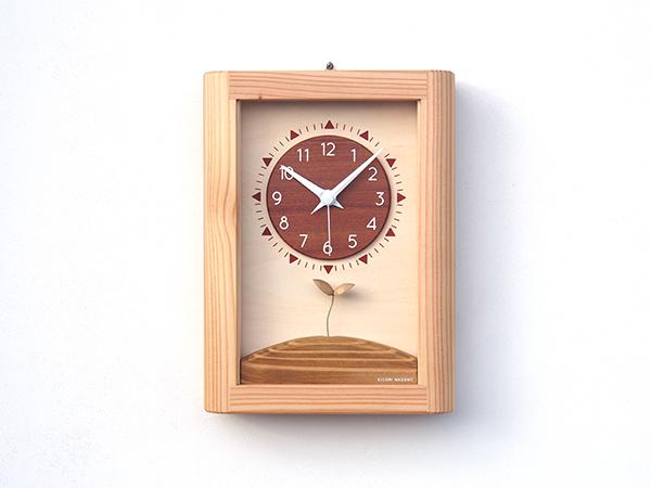 【New!!】 「キコリの時計」 木の振子時計 【ひなたの時計】