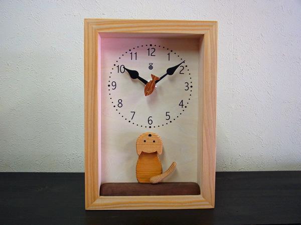 卸売 「キコリの時計」 木の振子時計 木の振子時計【仔猫の時計】, カイフグン:1b00e0a7 --- hortafacil.dominiotemporario.com