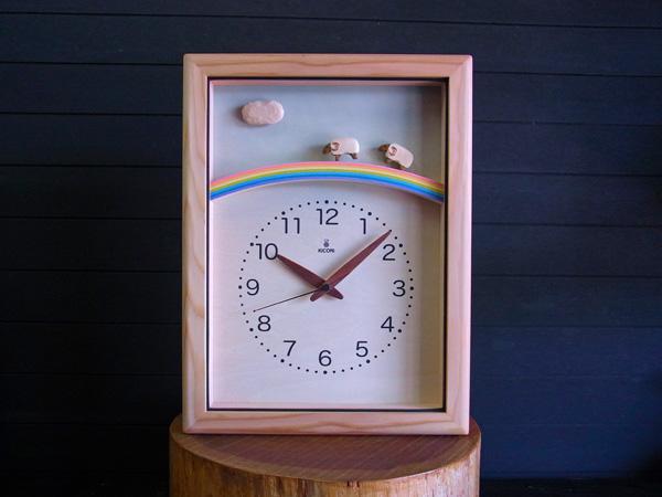 「キコリの時計」 木の電波時計 【ひつじと虹の電波時計】