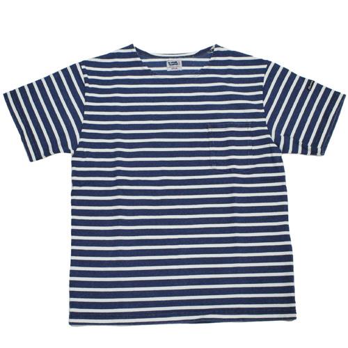 Pherrow's(フェローズ)ボーダーインディゴポケットTシャツ 20S-PAUL
