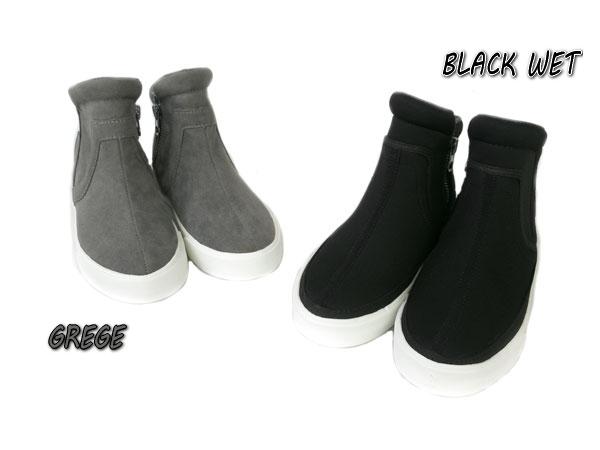 ≪ズーム≫Z1692 / 22-24cm / グレージュ,黒ウェットAnkleBoots / ブーツ[靴][ZOOM][ピープ/PEEP]