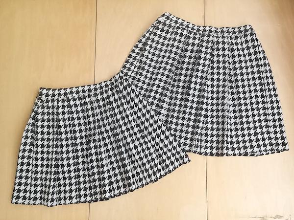 【SALE】≪フィス≫FITH511 / 150cm,160cm / 黒ストレッチ千鳥柄ミニスカート