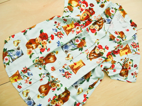 【SALE】≪ディック&ジェーン≫dj2105 / 160cm / 緑フラワーシャツ[Dick&Jane]