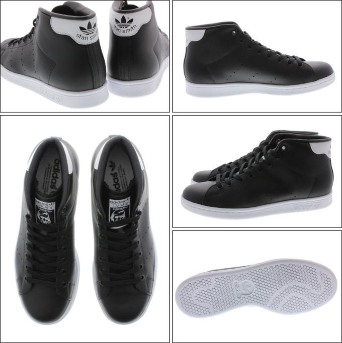 10% OFF Adidas adidas Stan Smith mid STAN SMITH MID core black / core black /FTW white S75027
