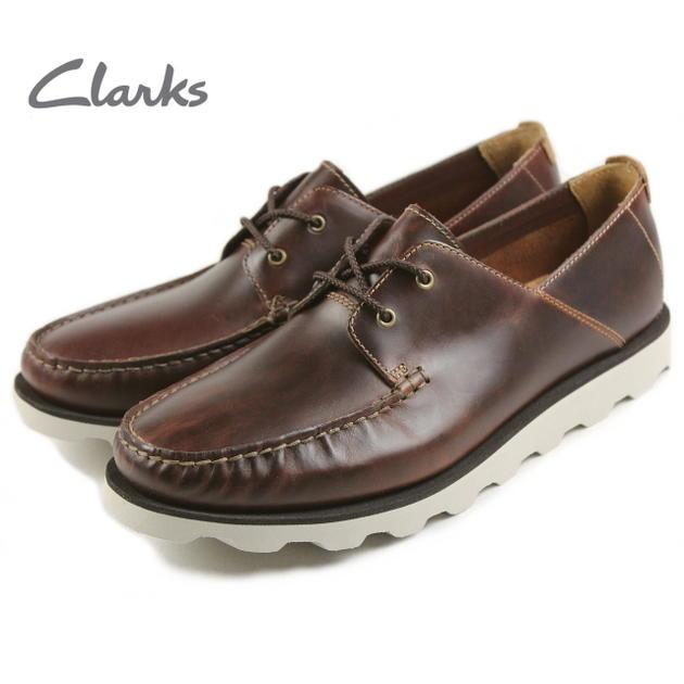 クラークス Clarks DAKIN BOAT デーキンボート マホガニーレザー 515E-DBR【FKOG】