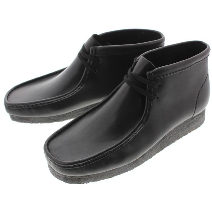 【16時まで即日発送】定番 クラークス Clarks シューズ ワラビーブーツ Wallabee Boot ブラックレザー 980E-B 【FMOM】