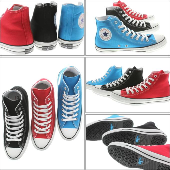 匡威CONVERSE全明星100片假名高ALL STAR 100 KATAKANA HI蓝色(1CK814)红(1CK815)黑色(1CK816)