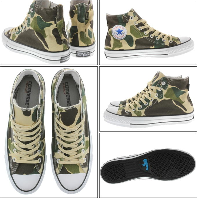 0df408771a305c Converse CONVERSE sneakers all-stars 100 Gore-Tex print high ALL STAR 100  GTX PT HI olive