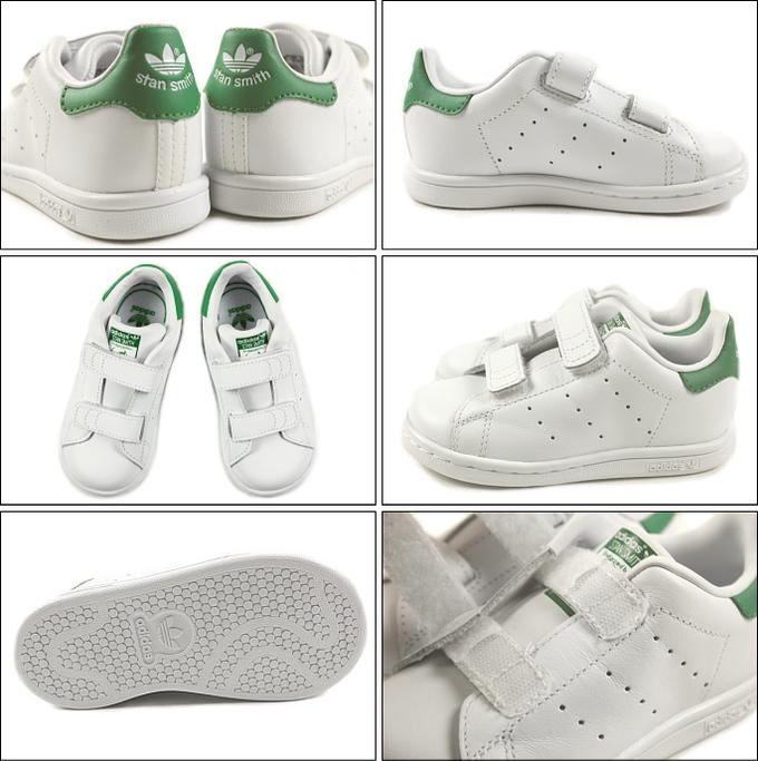 [during period limited 10% OFF coupon distribution] basic child Adidas adidas STAN SMITH CF I Stan Smith CF I FTW white FTW white green child