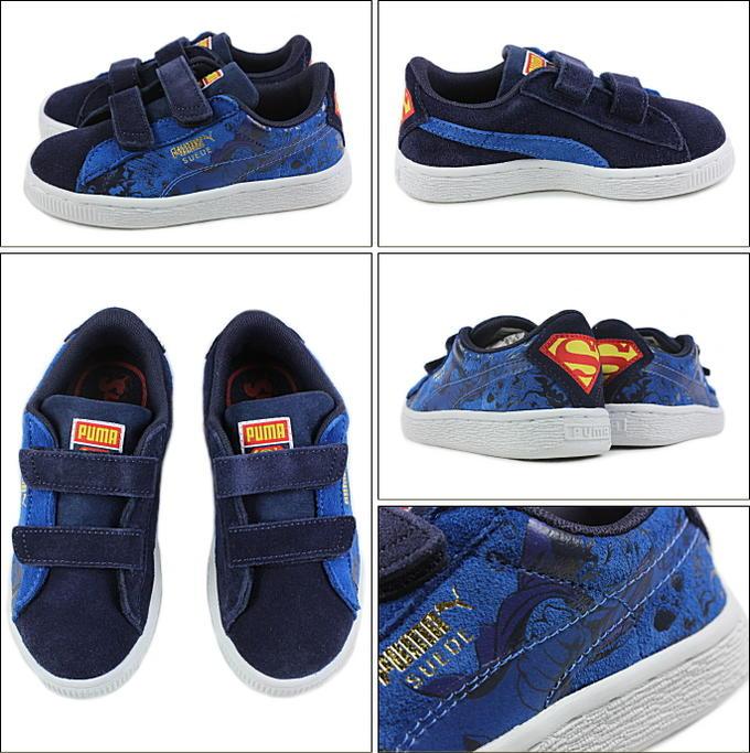 c8b39fe2fc62 Child Puma PUMA SUEDE SUPERMAN 2V KIDS suede cloth superman 2V kids pea  coat   Princess blue 360