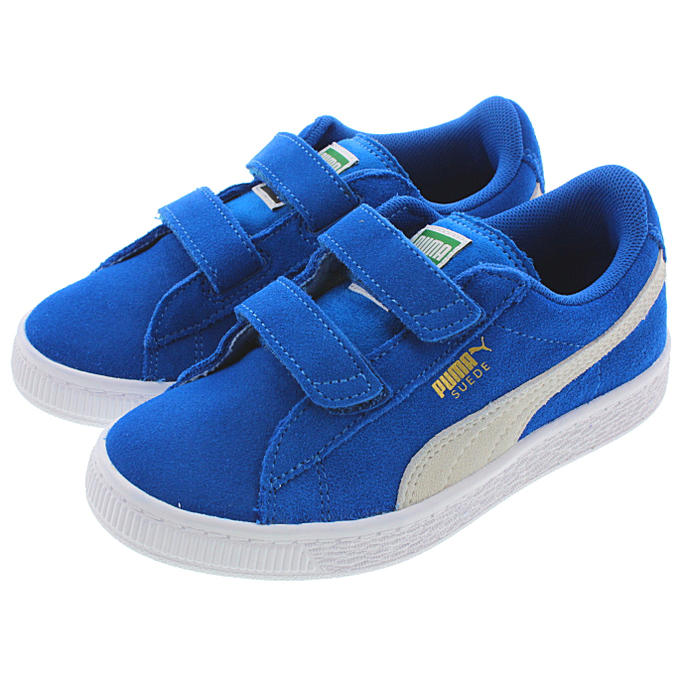 0f58be387d07 Child Puma PUMA suede cloth 2 strap PS SUEDE 2 STRAPS PS snorkel blue    white 359