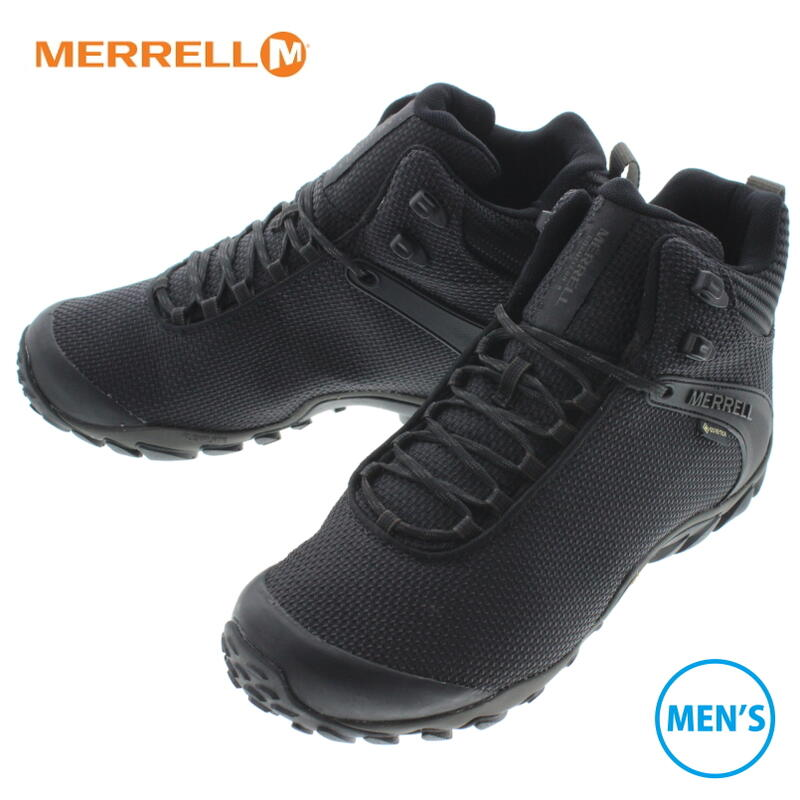 メレル メンズ カメレオン 8 ストーム ミッド ゴアテックス ブラック J034087【GOOG】 MERRELL CHAM 8 STORM MID GTX