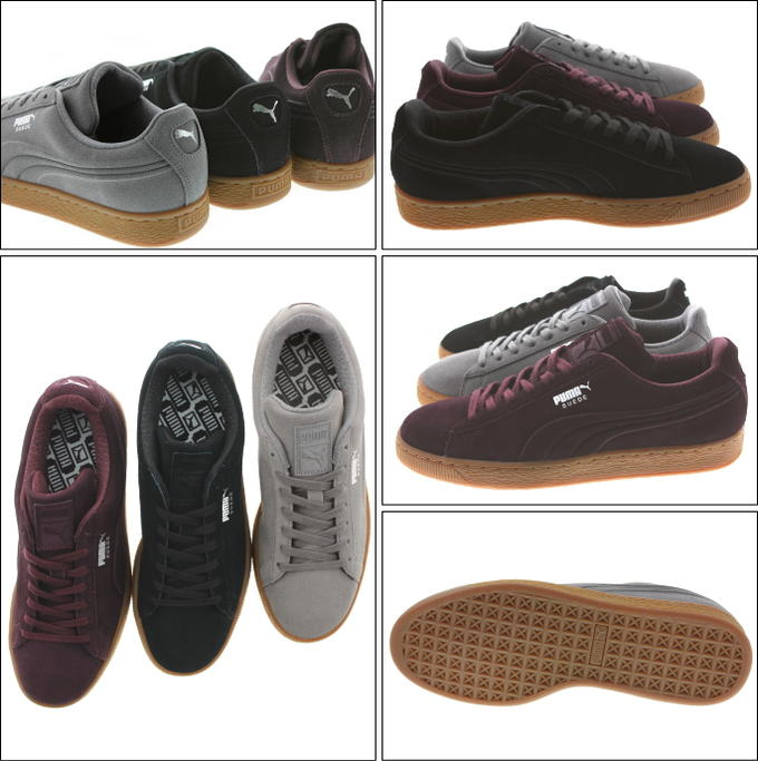 Puma PUMA suede cloth classical music DEBOSSED steel gray (361,098-01) Puma black (361,098-02) wine tasting (361,098-03)