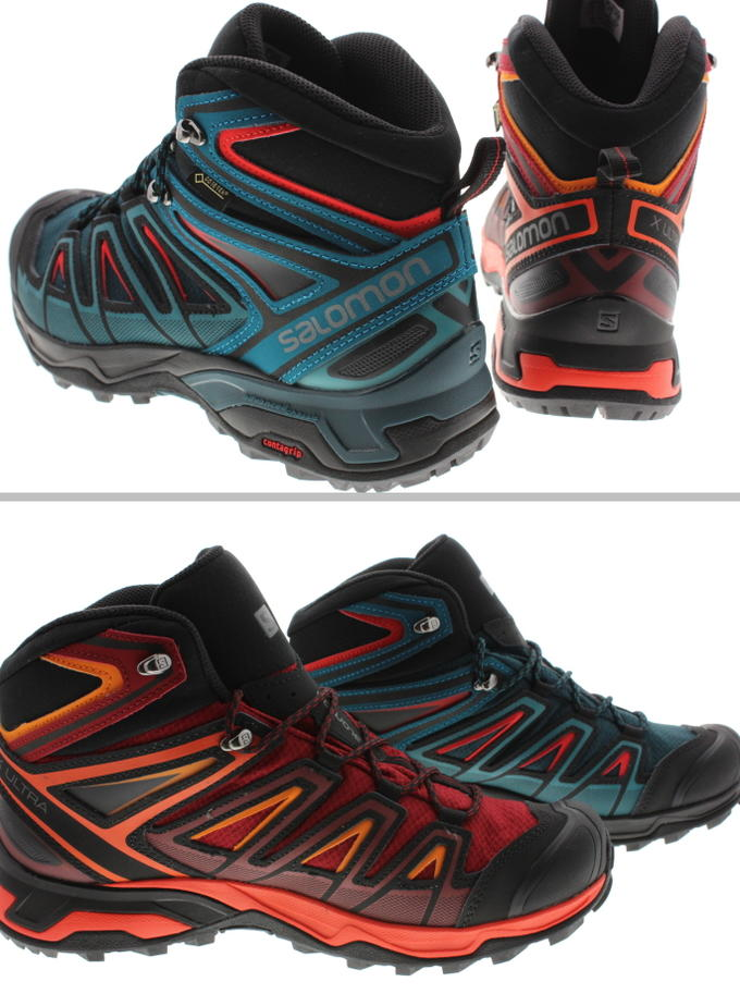 best sneakers 7e0d0 4fa0b It is Salomon salomon hiking shoes X ultra 3 mid Gore-Tex X ULTRA 3 MID GTX  リフレクティングポンド (404672) red dahlia (404680) [during period-limited 10% OFF ...