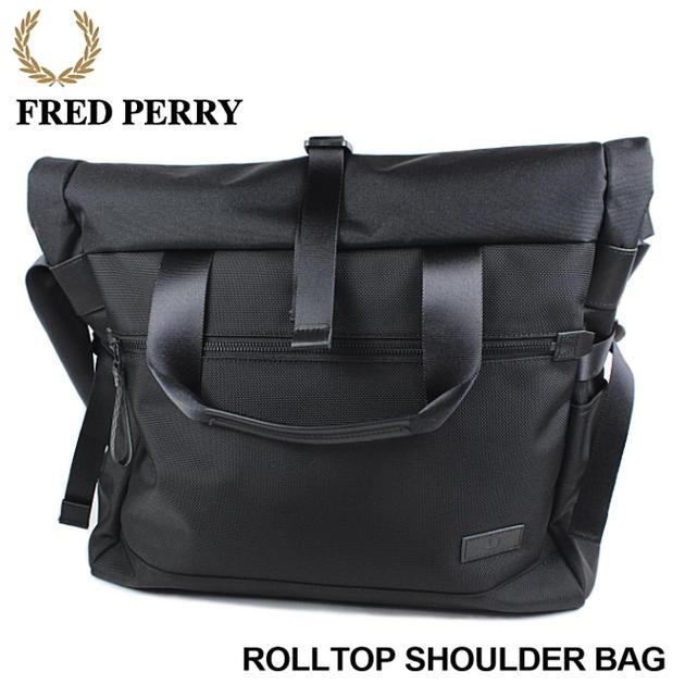 フレッドペリー FRED PERRY Rolltop Shoulder Bag ロールトップ ショルダー バッグ F9232 [BG]【FKOH】