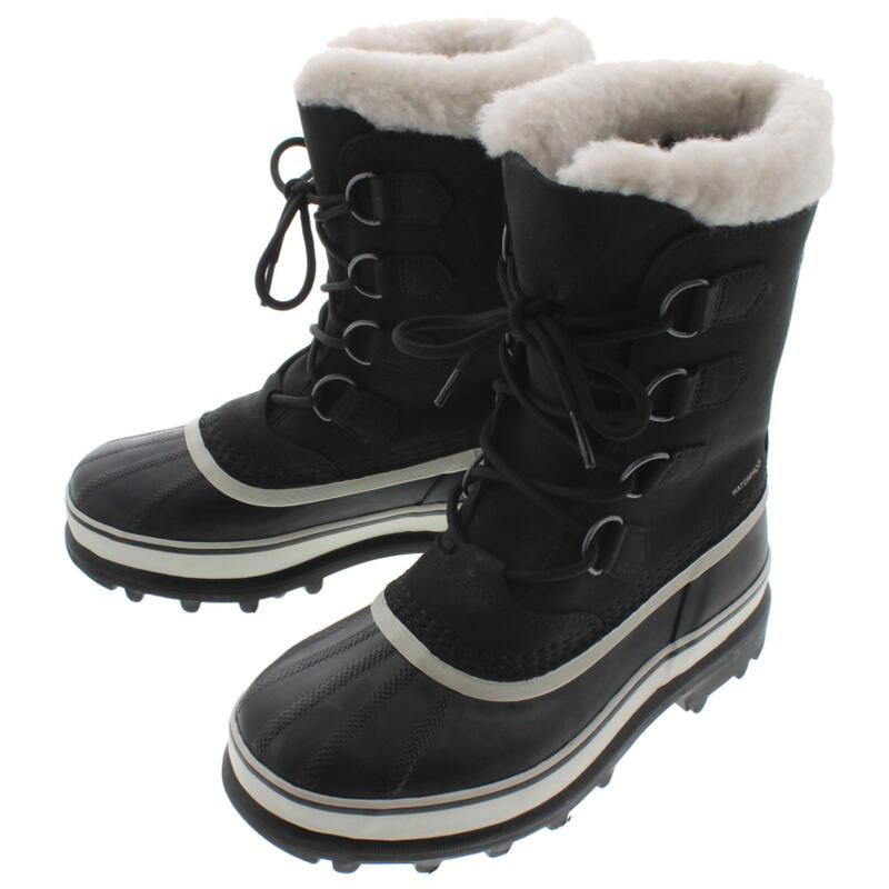 定番 レディース ソレル SOREL ブーツ CARIBOU カリブー ブラック/ストーン NL1005-011