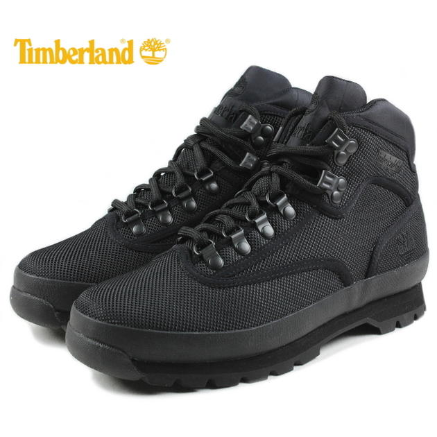 ティンバーランド Timberland ユーロハイカー ミッド ファブリック バインディング ブラック TB0A1373【FKOH】