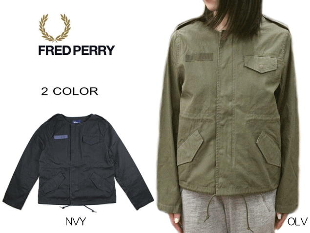 フレッドペリー FRED PERRY No Collar Blouson ノーカラー ブルゾン F6205 [WA]