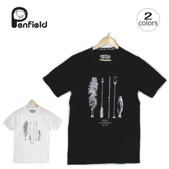 店内全品対象 16時まで即日発送 正規取扱店 メンズ Penfield ペンフィールド PEN ADVENTURE PF-2016SS-0413 WA Tシャツ TSHIRTS 新着セール アドベンチャー ペン