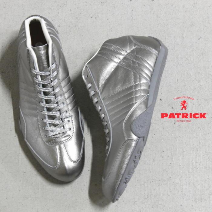 交換・返品送料無料 パトリック PATRICK スニーカー ジェット ハイ ゴート JET-H/G シルバー SLV 530934 【FMFG】