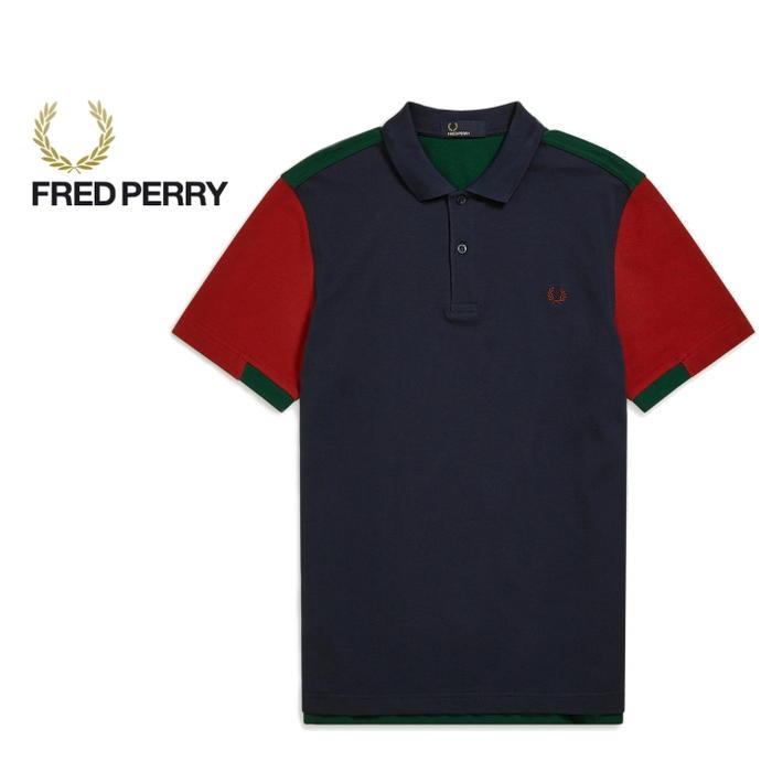 フレッドペリー FRED PERRY ポロシャツ ボールド カフ インサート ピケシャツ カーボンブルー M5576-266 [WA]【FNOG】