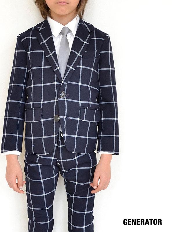 送料無料 ジェネレーター スーツ 2ボタン テーラードジャケット ウィンドペン 150cm 160cm 944110 子供服 キッズ ベビー ジュニア 男の子 フォーマル セール 30%OFF SALE