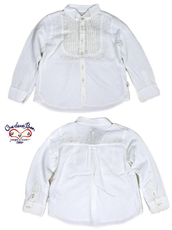 半額 セール SALE50%OFF SALE ブーフーウー BOOFOOWOO 長袖白シャツ 110cm 4077115 子供服 キッズ ベビー ジュニア