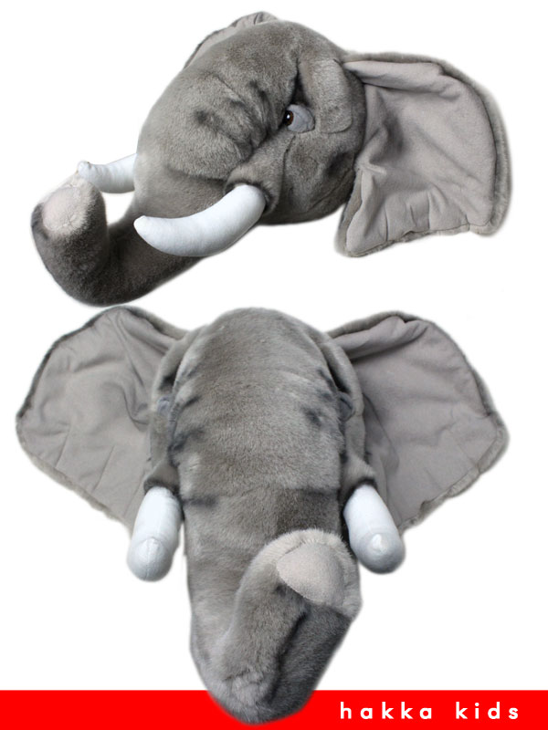 象 ぞう ゾウ アニマルヘッド 壁飾り 送料無料 壁掛け飾り(F)12300840 セール対象外 インテリアに アニマルヘッド ノベ対象 ハッカ HAKKA アニマル elephant