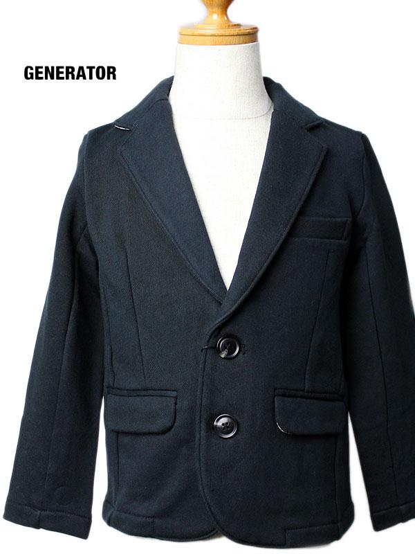 ジェネレーター テーラードジャケット スーツ カットソー 2ボタン 110cm 120cm 130cm 140cm おしゃれ 男子 中学生 小学生 男の子 フォーマル  ブラック 黒 シンプル[コンビニ受取]61101