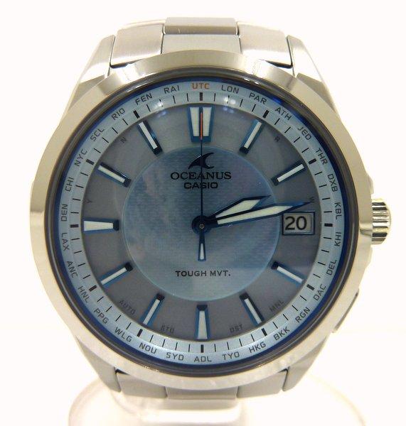 【カシオ】オシアナス クラシックライン メンズ腕時計 OCW-S100P-2AJF/タフソーラー/カシオ【中古】/2F/r2t0308