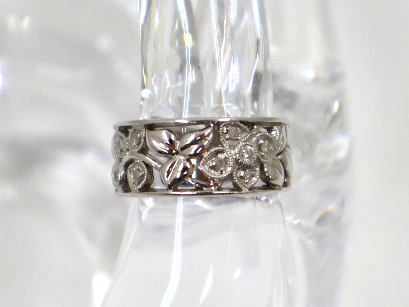 期間限定 値下げしました 18金 白金 指輪 Jewelry K18WG メレダイヤリング 上等 代金引換不可 D:0.1ct 5.8g 現金特価 ホワイトゴールド tm01498kw 中古 11.0号