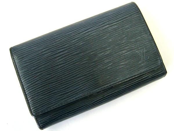 【LOUIS VUITTON】エピ ポルトモネビエトレゾール 2つ折り財布 ノワール M63502 ルイヴィトン/ブラック/黒 【中古】【箕面店】 @ mn1108