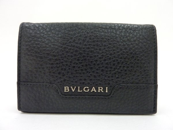 【BVLGARI 】名刺入れ ブラック/34674/ブルガリ【中古】/ar0075/※代引き不可※