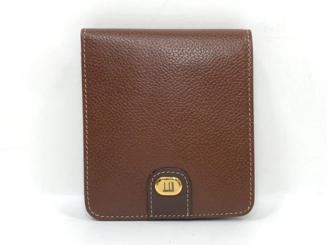 dunhill ダンヒル 二つ折り財布 未使用 新作製品 世界最高品質人気 レザー 本革 br27102 コンパクトウォレット ブラウン 中古