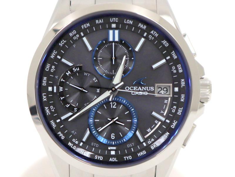【CASIO】オシアナス CLASSIC 電波ソーラー腕時計 OCW-T2600-1AJF/カシオ【中古】/ng0161