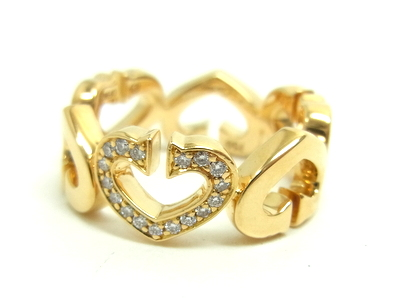 """""""Free shipping"""" Cartier Cartier """"C heart of Cartier rings ring jewelry (750, K18YG / yellow) C heart of Cartier ring B4041700""""# 49 (country size: 9)""""15504 @"""