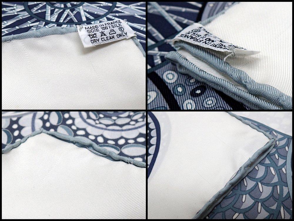 美品送料込HERMES エルメスカレ90Reves d'Escargots カタツムリの夢ホワイト×グレー×ブラック スカーフ ストール カレ シルク10090×90 2012 21347k0196 @F1uT5lK3Jc