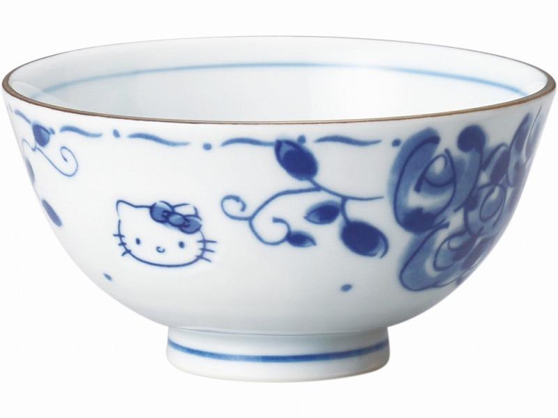 オンラインショッピング ハローキティブルーローズ 安全 茶碗