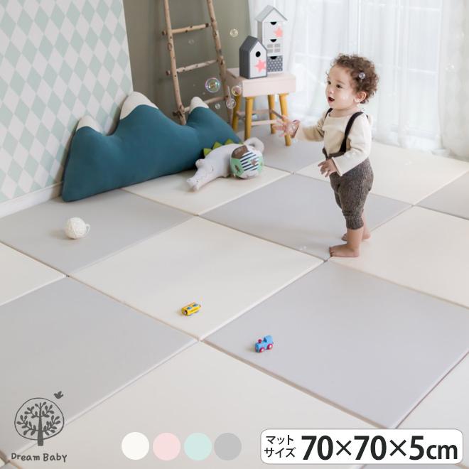 【POINT3倍】ジョイントマット クッションマット パズルマット LICOCO 北欧 子供 マット 赤ちゃん キッズ フロアーマット 防音 はいはい お昼寝 70cm×70cm グレー 厚手