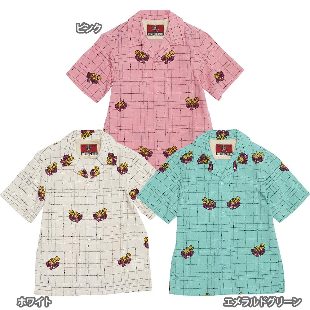 Hystericmini ヒステリックミニ MINI & STRING 50s総柄ブロードシャツ