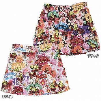 Hystericmini ヒステリックミニ POP FLOWER総柄 Viscotex インナーパンツ付きスカート