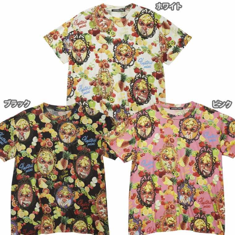 Hystericmini ヒステリックミニ TEMPTATION FRUITS総柄 Viscotex BIGTシャツ