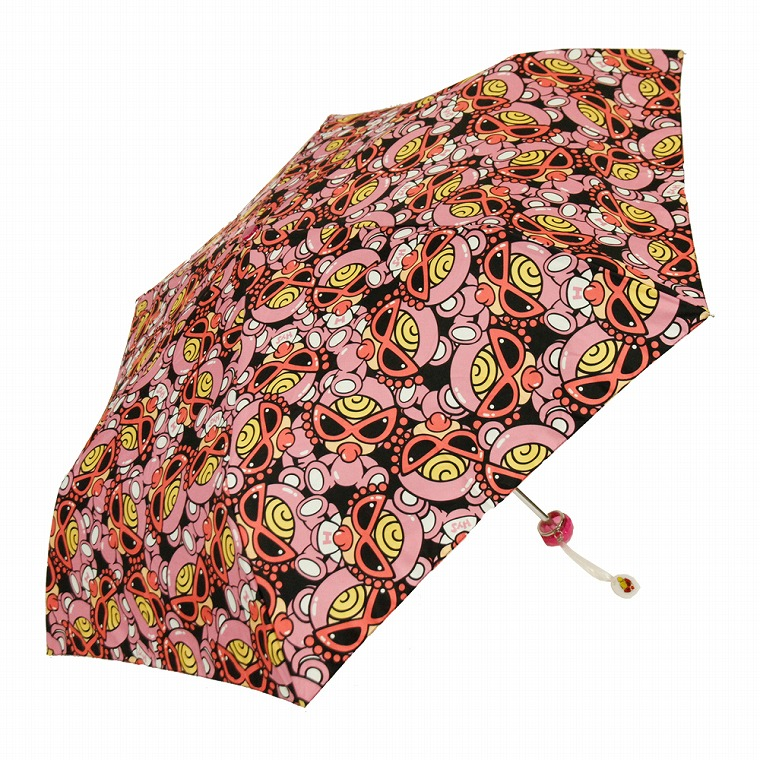 Hystericmini ヒステリックミニ TEDDY MINI総柄 折りたたみ傘 袋付き